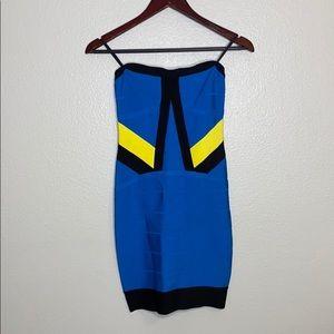 Bebe Bodycon Strapless Dress Size S